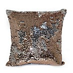 Mermaid Sequin Throw Pillow in Rose Dust/Silver