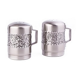 Old Dutch International Embossed Victoria Stovetop Salt & Pepper Shaker Set in Antique Pewter