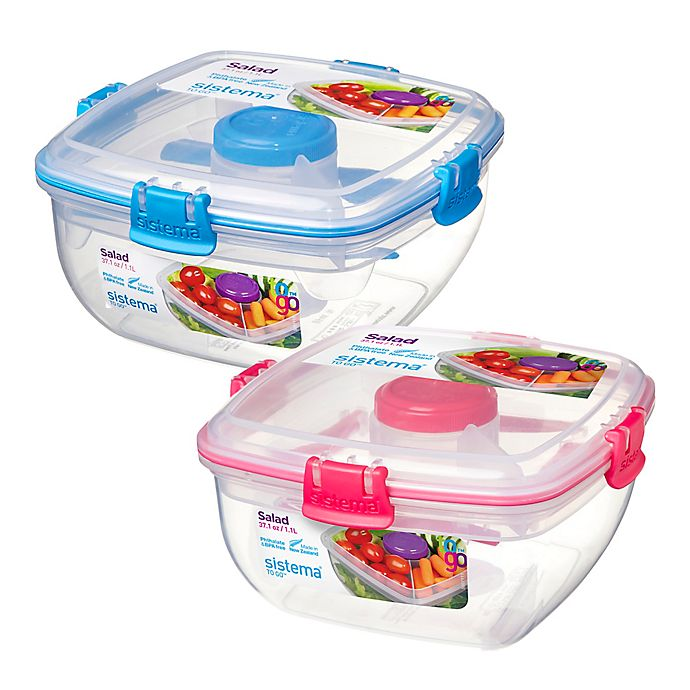 Alternate image 1 for Sistema® 37.2 oz. Salad To Go Container