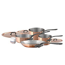 Mauviel 1830® M'150C2 Copper and Stainless Steel 7-Piece Cookware Set