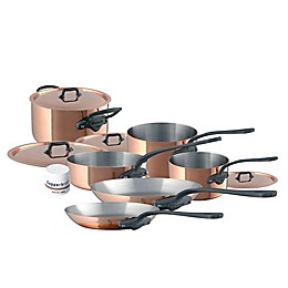 Mauviel 1830® M'150C2 Copper and Stainless Steel 10-Piece Cookware Set