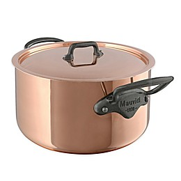 Mauviel 1830® M150C2 Copper and Stainless Steel 6.1 qt. Covered Stew Pan