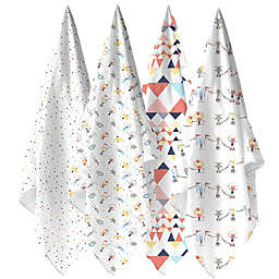 Weegoamigo 4-Pack Big Top Muslin Swaddles