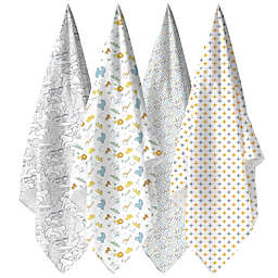 Weegoamigo 4-Pack Safari Muslin Swaddles