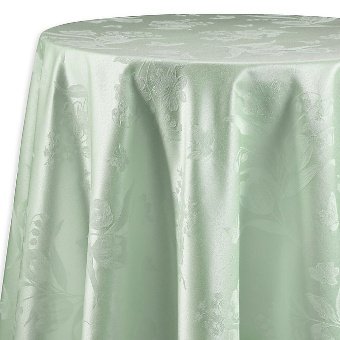 Alternate image 1 for Spring Splendor Floral 90-Inch Round Tablecloth in Mint