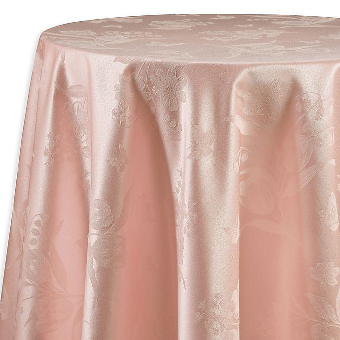 Alternate image 1 for Spring Splendor Floral 70-Inch Round Tablecloth in Pink