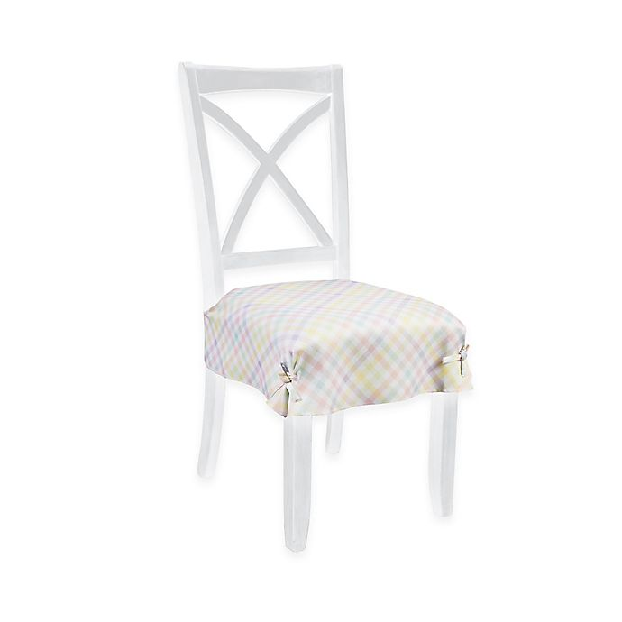 Pleasant Spring Splendor Gingham Seat Covers Set Of 2 Bed Bath Andrewgaddart Wooden Chair Designs For Living Room Andrewgaddartcom