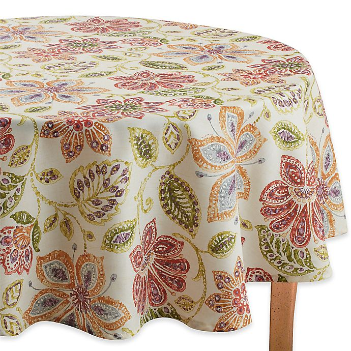 Alternate image 1 for Croscill® Tessa 70-Inch Round Tablecloth