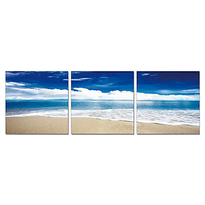 Elementem Photography Blue Skies Ahead 3-Panel Photographic Wall Art