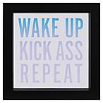 LED  Wake Up, Repeat  Sentiment Framed Wall Art