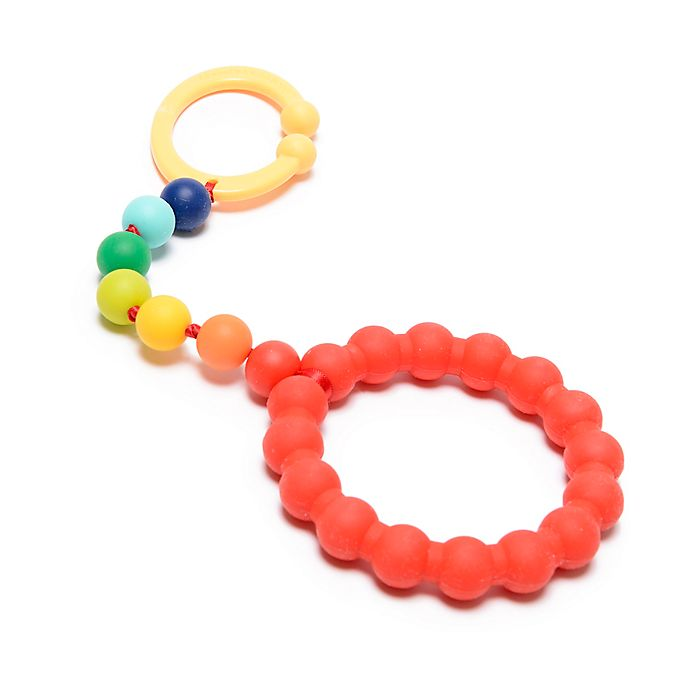 Alternate image 1 for chewbeads® Baby Gramercy Teether Stroller Toy in Rainbow