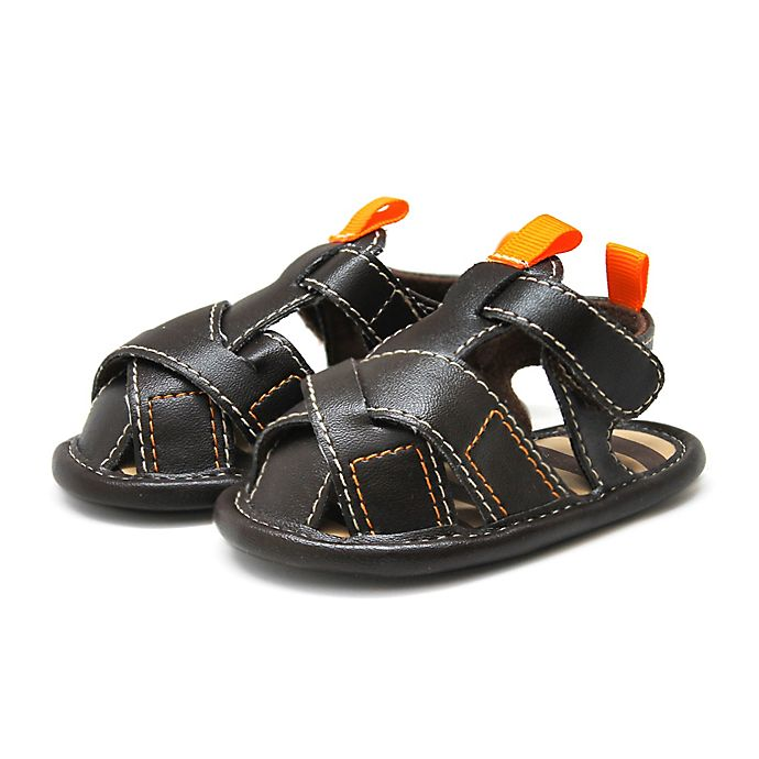 Alternate image 1 for Stepping Stones Cross Strap Sandal in Brown