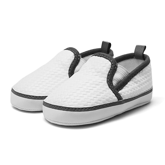 Alternate image 1 for Stepping Stones Woven Faux Leather Casual Shoes in White