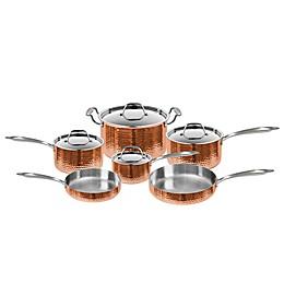 Fleischer & Wolf® Seville Hammered Copper 10-Piece Cookware Set