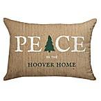 Peace Tree Poplin Oblong Throw Pillow in Burlap