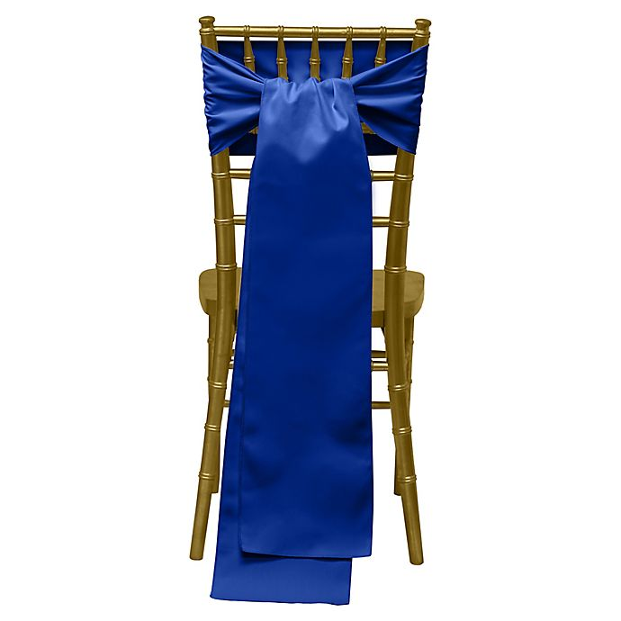 Alternate image 1 for Twill Chair Ties in Royal (Set of 4)