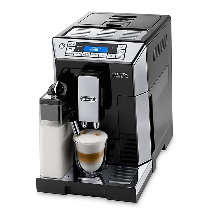 Alternate image 1 for De'longhi Eletta Top Fully Automatic Espresso and Cappuccino Machine in Stainless Steel/Black