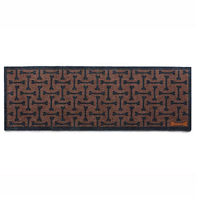 Howler & Scratch 59-Inch x 20-Inch Washable Bones Dog Runner in Brown