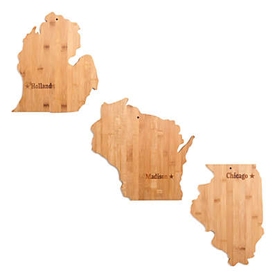 Core Bamboo City & State Cutting Board Collection