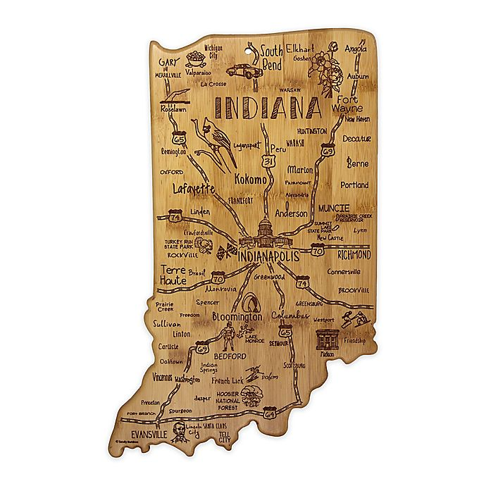 Alternate image 1 for Totally Bamboo® Indiana Destination Cutting Board