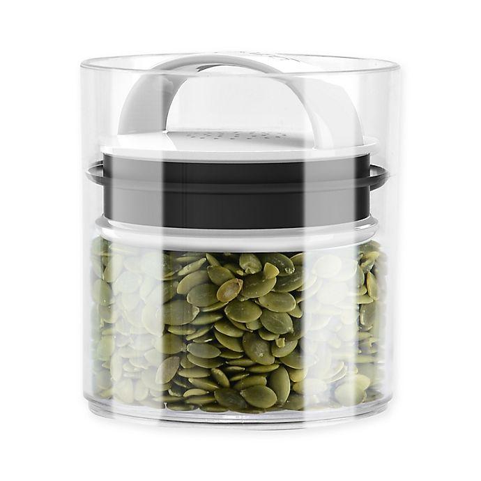 Alternate image 1 for Prepara® Evak Fresh Saver Metropolitan 0.5 qt. Storage Canister in White/Black