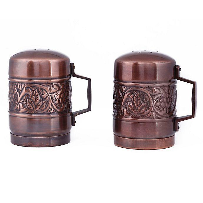Alternate image 1 for Old Dutch International Heritage Stovetop Salt and Pepper Shaker Set in Antique Copper