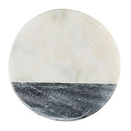 Thirstystone® Individual Marble Coaster in Black/White