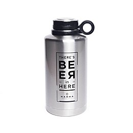 "Manna ""There's Beer in Here"" 64 oz. Ring Vacuum Insulated Growler"