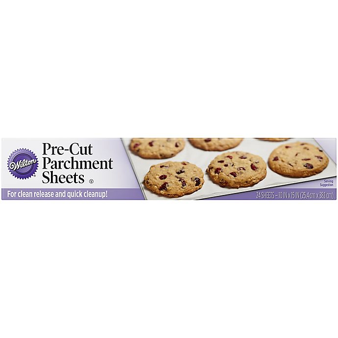 Alternate image 1 for Wilton® 24-Piece 10-Inch x 15-Inch Parchment Sheets