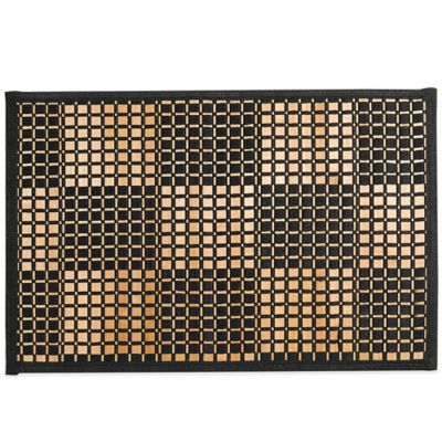 Bamboo Black Woven Checked Placemat | Bed Bath and Beyond ...