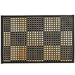 Bamboo Black Woven Checked Placemat