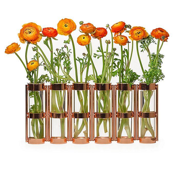 Alternate image 1 for Danya B. 8-Inch 6 Tube Hinged Vase