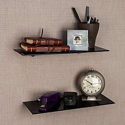 Danya B. 16-Inch Glass Radial Floating Shelves