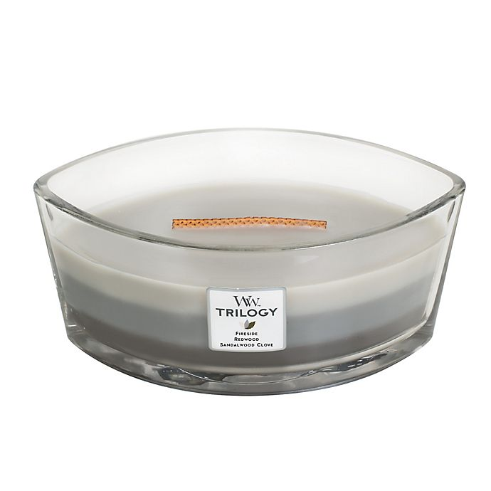 Alternate image 1 for WoodWick® Trilogy Warm Woods Large Oval Jar Candle