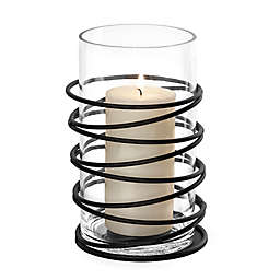 Danya B. Swirl Metal and Glass Hurricane