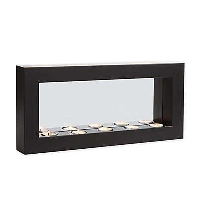 Danya B. Horizontal Mirror Tealight Candle Sconce with Metal Frame