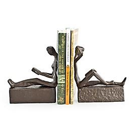 Danya B. Man & Woman Reading Bookend Set in Brown