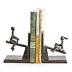 Danya B. See-Saw Bookends in Brown (Set of 2)