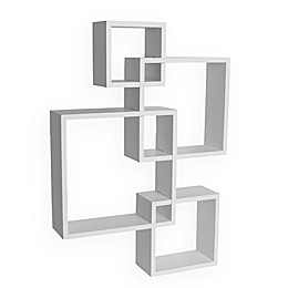 Danya B. Intersecting Cube Shelves in White