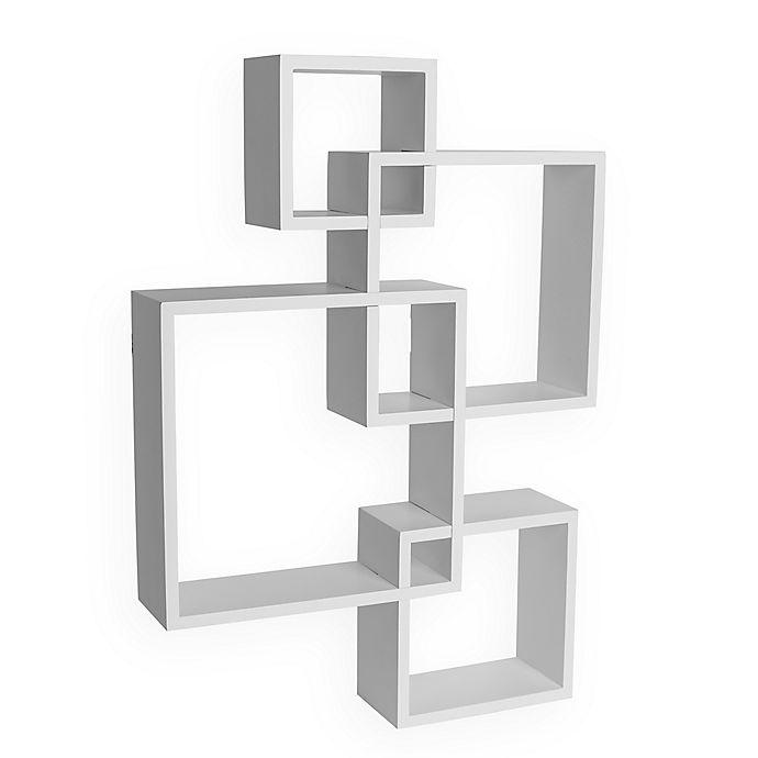 Alternate image 1 for Danya B. Intersecting Cube Shelves in White