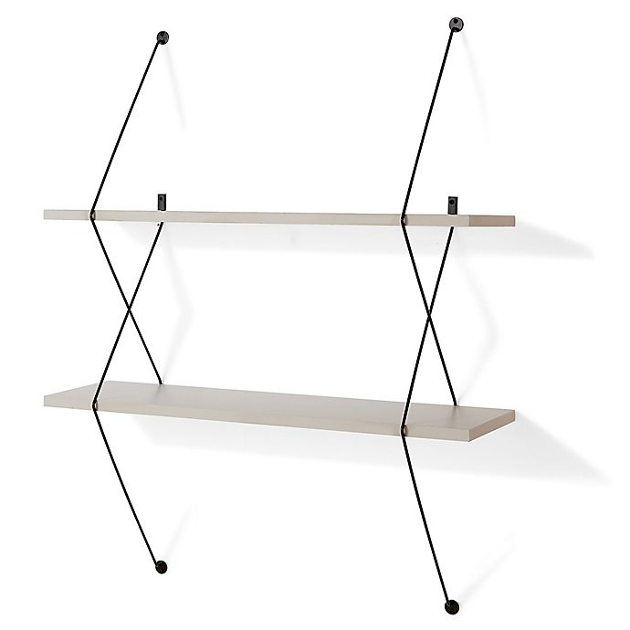 Alternate image 1 for Danya B. Two-Level Wall-Mounted Shelf in Grey