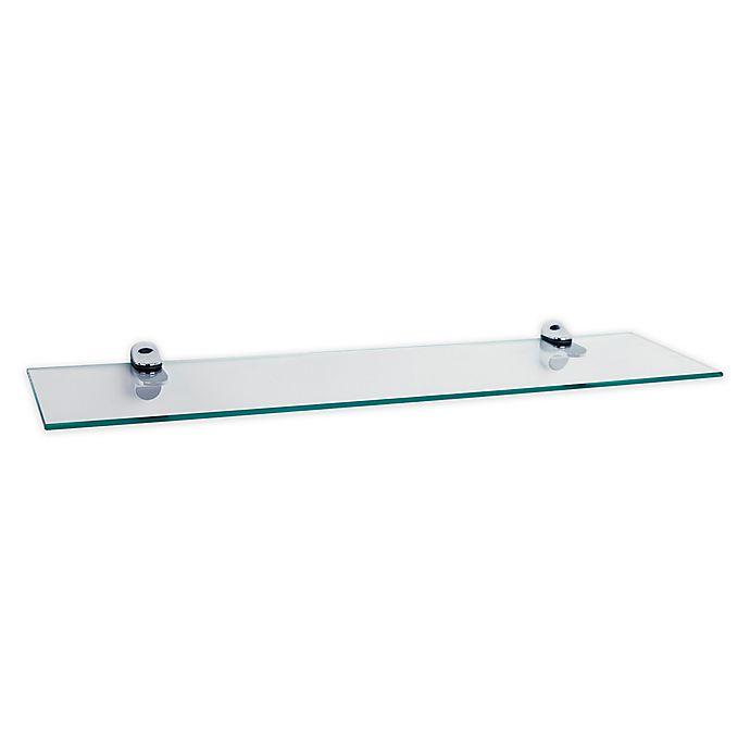Alternate image 1 for Danya B. 6-Inch x 24-Inch Floating Glass Shelf