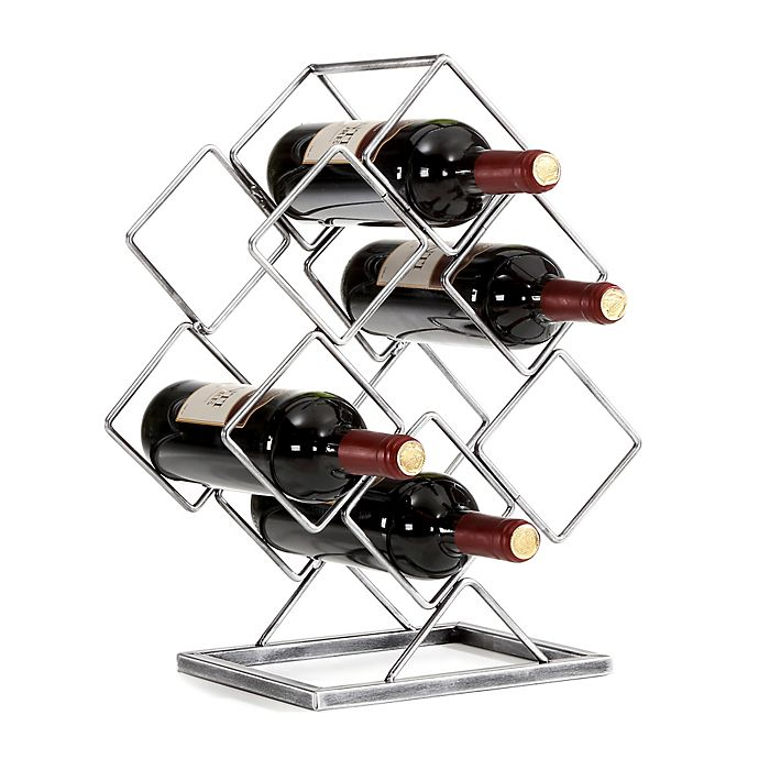 Alternate image 1 for Danya B. 6-Bottle Electroplated Wine Rack