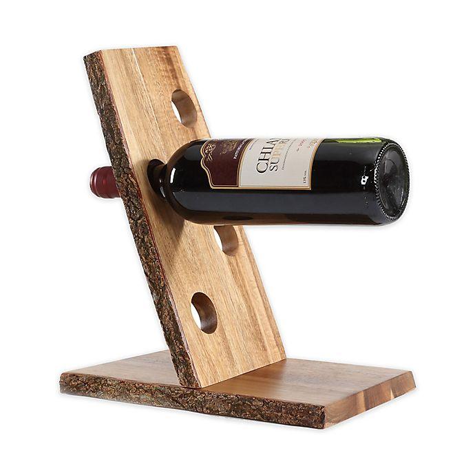 Alternate image 1 for Danya B. 4-Bottle Floating Wine Holder with Bark