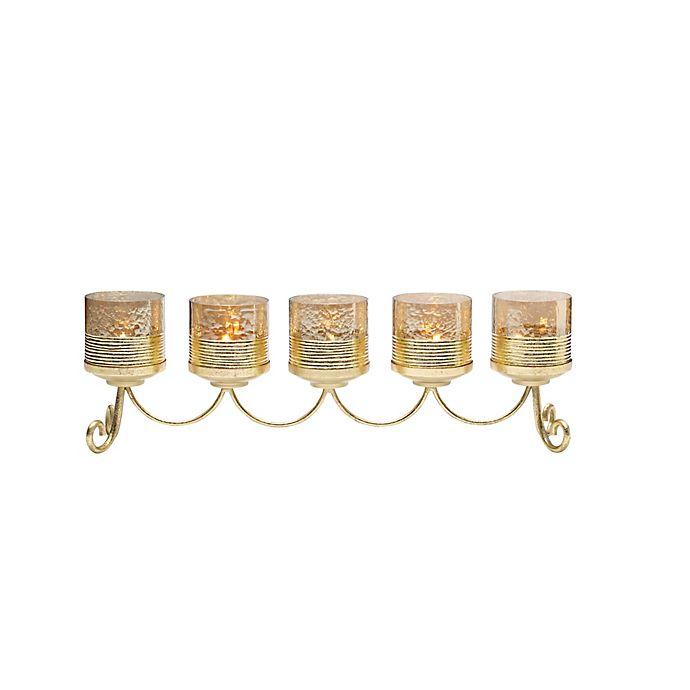 Alternate image 1 for Lifetime Brands Cylinder Linear Candle Holder in Gold