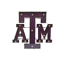 Texas A&M University 26-Inch Illuminated Recycled Metal Wall Décor