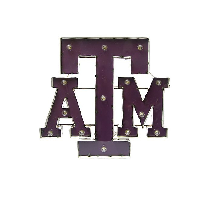 Alternate image 1 for Texas A&M University 26-Inch Illuminated Recycled Metal Wall Décor