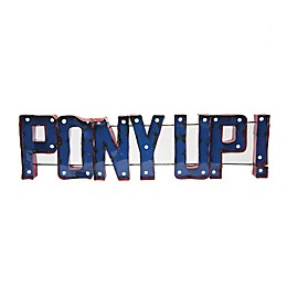 """Southern Methodist University """"Pony Up"""" Recycled Metal Wall Décor"""