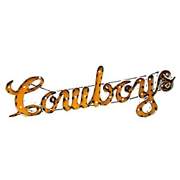 """University of Wyoming """"Cowboys"""" Illuminated Recycled Metal Wall Décor"""