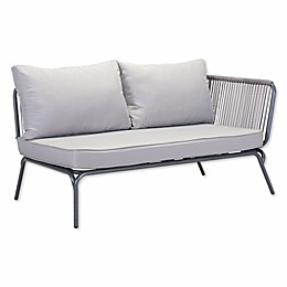Zuo® Pier Outdoor Right Arm Facing Double Loveseat in Grey